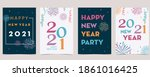 new year card collection with... | Shutterstock .eps vector #1861016425