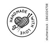 handmade with love round... | Shutterstock .eps vector #1861024708