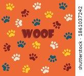 Cute Dog Paw Illustration On A...