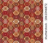 kilim bohemian seamless pattern ...   Shutterstock .eps vector #1861046872