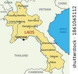 lao peoples democratic republic ... | Shutterstock .eps vector #1861065112
