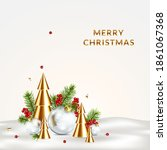 christmas card with christmas... | Shutterstock .eps vector #1861067368