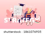education strategy concept.... | Shutterstock .eps vector #1861076935