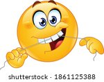 emoji emoticon cleaning his...   Shutterstock .eps vector #1861125388