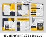 set of editable minimal square... | Shutterstock .eps vector #1861151188