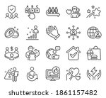 people icons set. included icon ... | Shutterstock .eps vector #1861157482