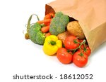 vegetables in grocery bag... | Shutterstock . vector #18612052