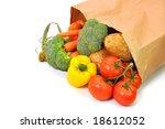vegetables in grocery bag... | Shutterstock . vector #18612052