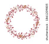 christmas wreath created in... | Shutterstock . vector #1861209805
