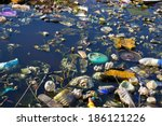 river that is polluted with... | Shutterstock . vector #186121226