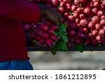 Selling Fresh Red Radish On The ...