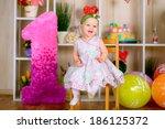 cute funny little kid in first... | Shutterstock . vector #186125372