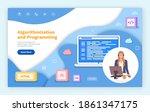 landing page of website....   Shutterstock .eps vector #1861347175