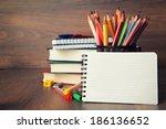 school stationary | Shutterstock . vector #186136652