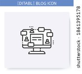 guest blogging line icon... | Shutterstock .eps vector #1861395178