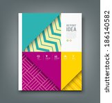 report design  colorful pattern ... | Shutterstock .eps vector #186140582