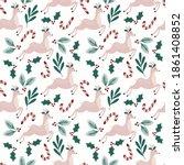 christmas time vector seamless...   Shutterstock .eps vector #1861408852