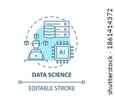 data science concept icon. top... | Shutterstock .eps vector #1861414372