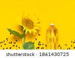 Plastic Bottles With Sunflower...