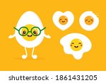 set  collection of cute boiled...   Shutterstock .eps vector #1861431205