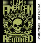 i am american i have the right... | Shutterstock .eps vector #1861434265