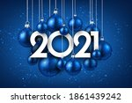 2021 happy new year background...   Shutterstock .eps vector #1861439242