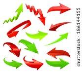arrow icon set. raster copy. | Shutterstock . vector #186144155