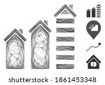 vector wire frame realty trend. ...   Shutterstock .eps vector #1861453348