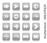 16 arrow icon set 02. white...