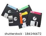 Group Of Floppy Disks Isolated...