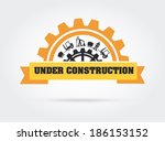 under construction design over... | Shutterstock .eps vector #186153152