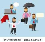 set of business man character... | Shutterstock .eps vector #1861533415