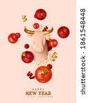 happy new year background with... | Shutterstock .eps vector #1861548448