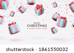 merry christmas and happy new... | Shutterstock .eps vector #1861550032