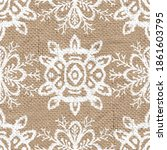 seamless burlap with white... | Shutterstock . vector #1861603795