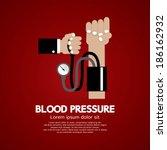 blood pressure vector... | Shutterstock .eps vector #186162932