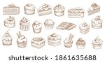 cakes sketch icons  pastry... | Shutterstock .eps vector #1861635688