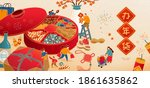 banner illustration of... | Shutterstock .eps vector #1861635862