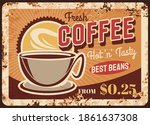 fresh roast coffee steaming cup ... | Shutterstock .eps vector #1861637308