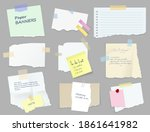 paper sticky notes  banners  to ... | Shutterstock .eps vector #1861641982