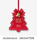 decorative price tag with red... | Shutterstock .eps vector #1861647508