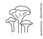 mushrooms concept icon  linear...