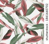 foliage seamless pattern ... | Shutterstock .eps vector #1861660702