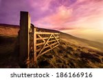 Gate On Moorland