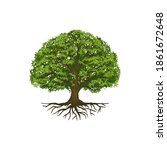 tree of life or tree and roots... | Shutterstock .eps vector #1861672648