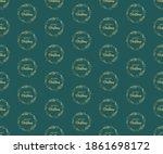 christmas wreath on a green... | Shutterstock .eps vector #1861698172