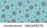 snowflakes on a blue background.... | Shutterstock .eps vector #1861698178