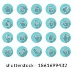 hand gestures icons set  such...   Shutterstock .eps vector #1861699432
