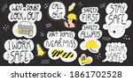 collection of hand drawn... | Shutterstock .eps vector #1861702528