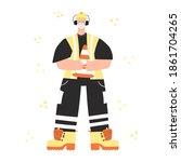 construction or factory worker...   Shutterstock .eps vector #1861704265